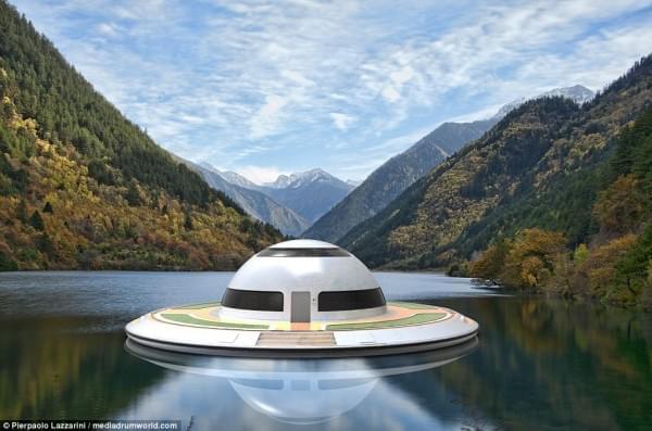 意设计师设计UFO形状游艇 两年后实现飞行功能的照片 - 9