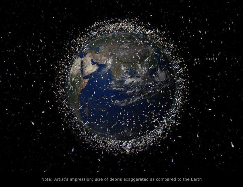 太空垃圾的处理:用高能激光炮让它蒸发