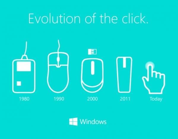 """微软发布""""点击进化史""""图片 称大多数人仍生活在90年代的照片"""