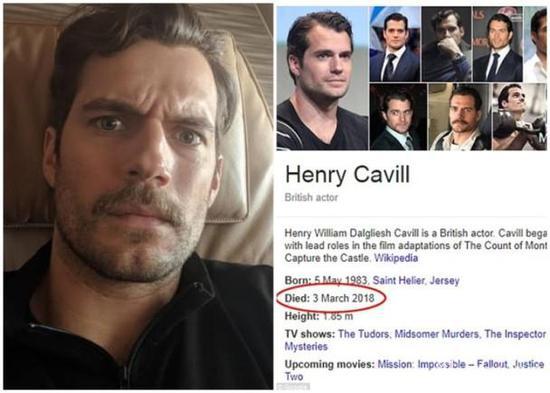 亨利自拍留言否认已死。