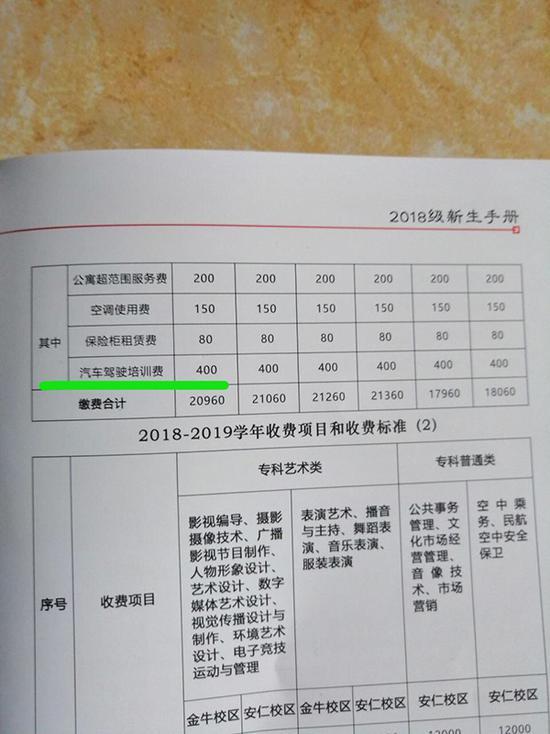 川影学生吐槽高价重修费 学校:符合规定