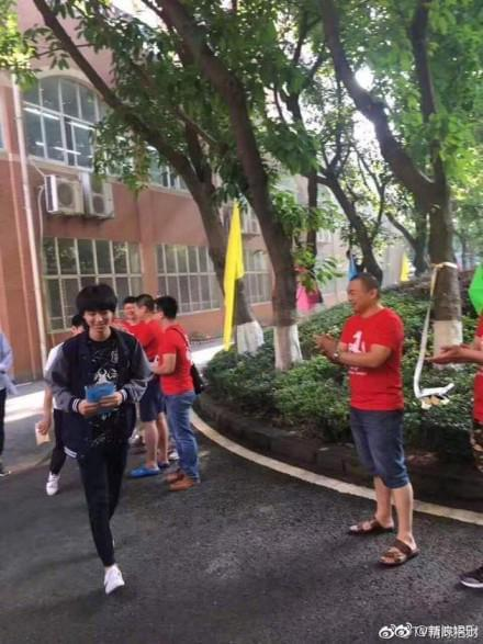 王俊凯参加高考