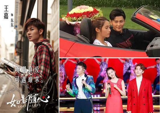 王嘉曾出演《甜蜜暴击》、《如影随心》等影视剧,与关晓彤、马天宇—同上春晚。