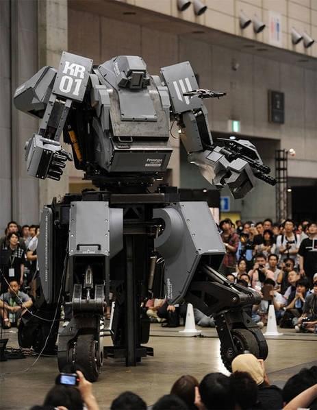 日本研制出可真人驾驶的机器人战士,卖1.2亿日元的照片 - 3