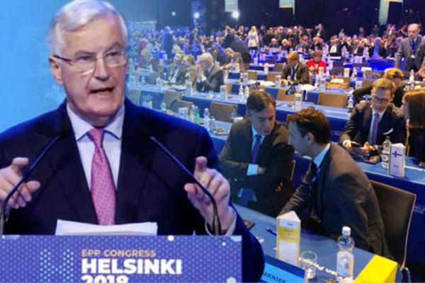 默克尔中途离场 欧盟脱欧谈判官演讲场面太尴尬