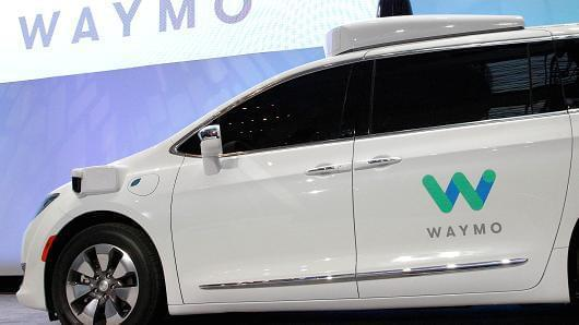 Waymo unveils a self-driving Chrysler Pacifica minivan in Detroit, Michigan, U.S. on January 8, 2017.