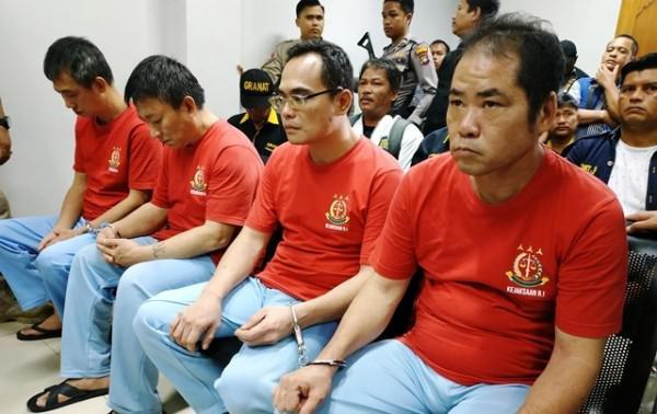 4名台湾男子走私1吨冰毒 在印尼被判处死刑