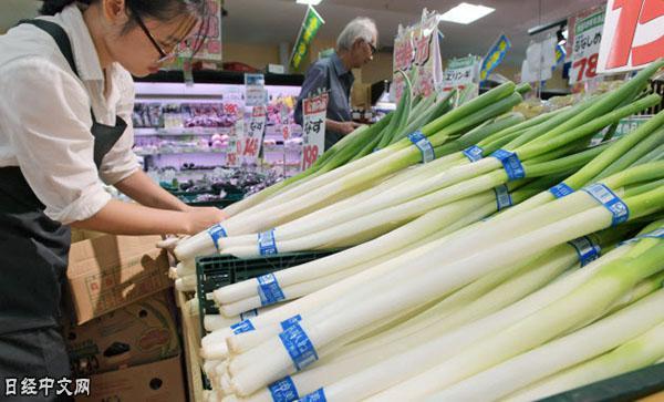 """日本蔬菜受灾缺货 """"平时不大使用""""中国蔬菜上柜台"""