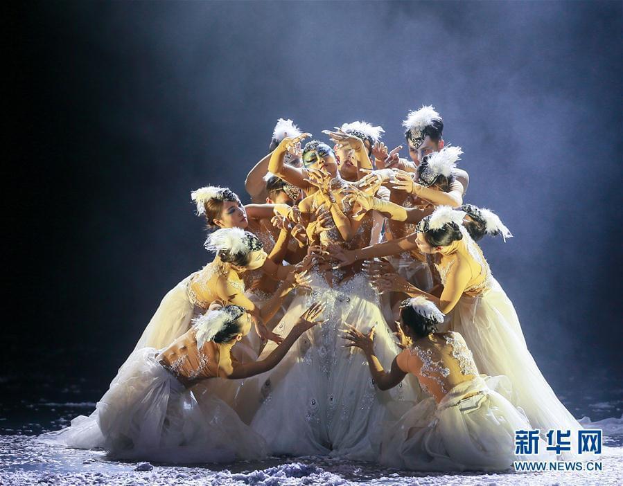 #(文化)(3)杨丽萍主演舞剧《孔雀之冬》舞动津城