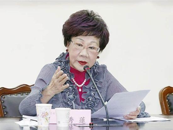 前台湾地区副领导人吕秀莲今