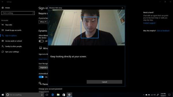 Windows 10新功能:检测到用户不在电脑前就自动锁屏的照片 - 1