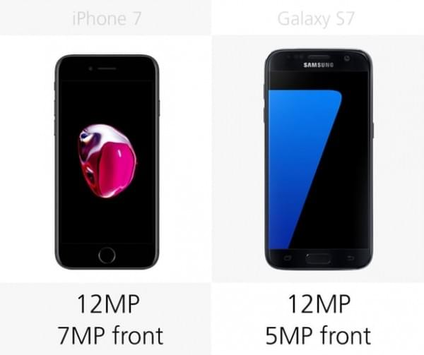 iPhone 7和Galaxy S7规格参数对比的照片 - 15
