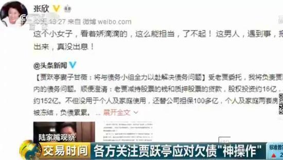 贾跃亭夫妇打悲情牌 大咖评论:把老婆推出来没出息