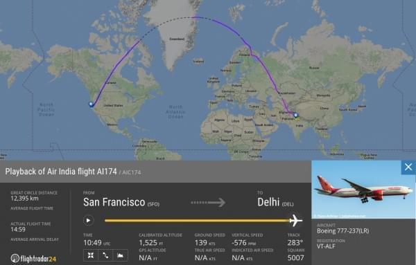 印度航空调整航线以利用顺风