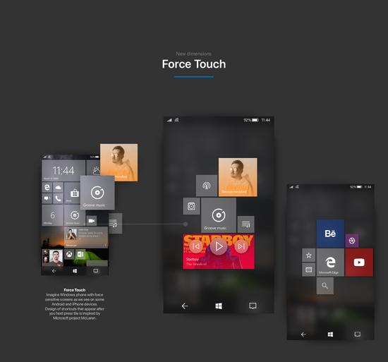 设计师用fluent design重做windows 10 mobile图片