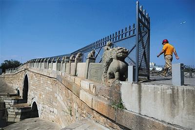 近600岁八里桥年底禁止通车 公园拟复原清朝石道