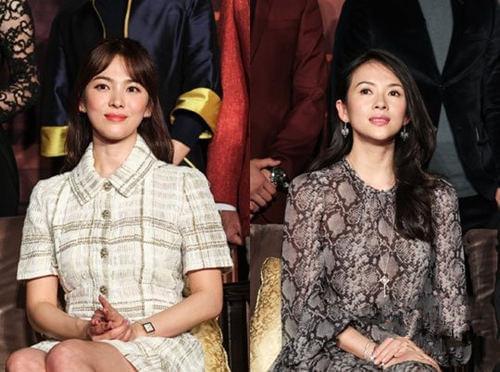 宋慧乔章子怡出席《太平轮》活动