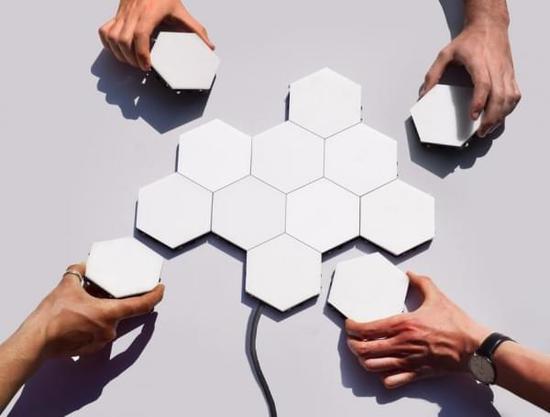 Helios:可当照明墙纸使用的模块化LED照明系统