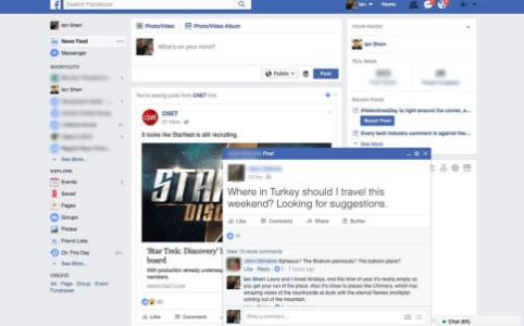 Facebook正在测试弹出式帖子 使其看起来像聊天窗口