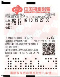 彩民随手写号中双色球1024万 叹终于可买房