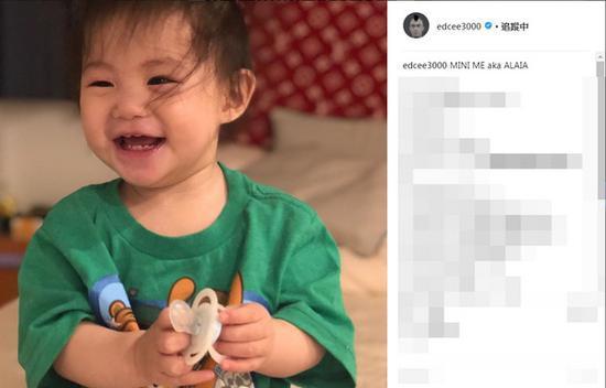 陈冠希经常会在社交网站上晒女儿