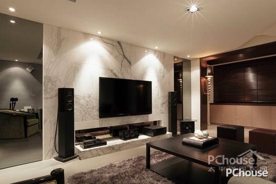 简约欧式风格电视墙装修效果图