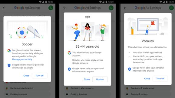 谷歌更新广告工具 让用户拥有更多个人数据控制权
