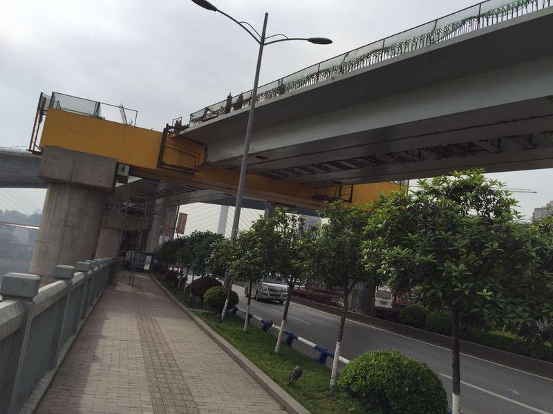重庆高家花园复线桥已与老桥平行 预计年内竣工