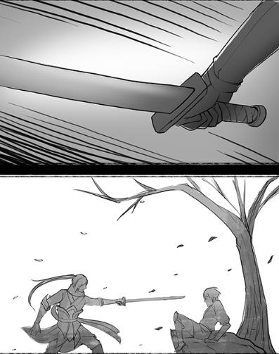 天谕玩家原创风格漫画:玄极与谕弟(二)