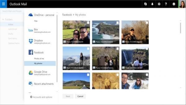 Outlook升级:支持Google Drive和Facebook图片当邮件附件的照片 - 3