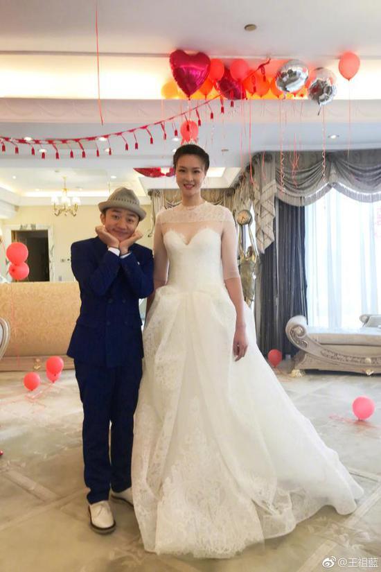 王祖蓝祝福惠若琪新婚:不在意身高的婚姻都幸福