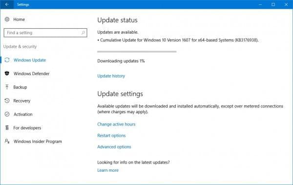 累积更新KB3176938发布:修复Windows 10冻结BUG的照片 - 2