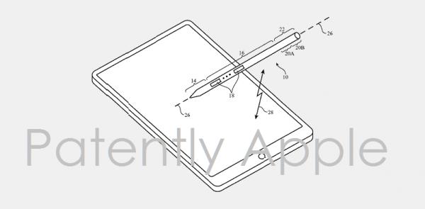 Apple Pencil 新专利: 吸在iPad上收纳可笔夹