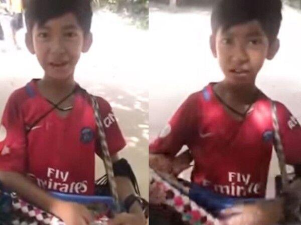柬埔寨10岁男孩会9国语言 高唱《我们不一样》