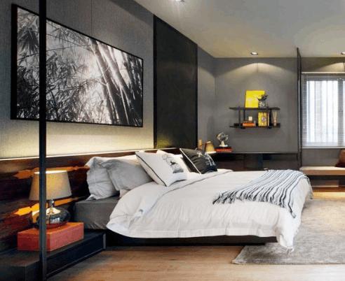5款干净利落的极简风卧室 背景墙才是最出彩的(图)