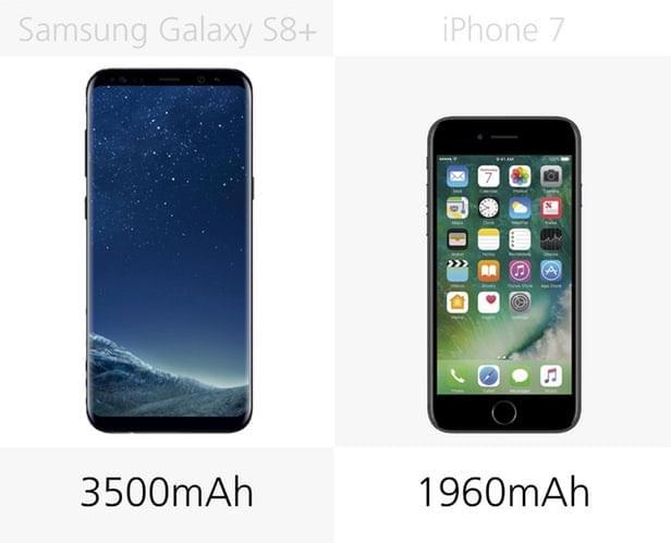 Galaxy S8+和iPhone 7规格参数对比的照片 - 23