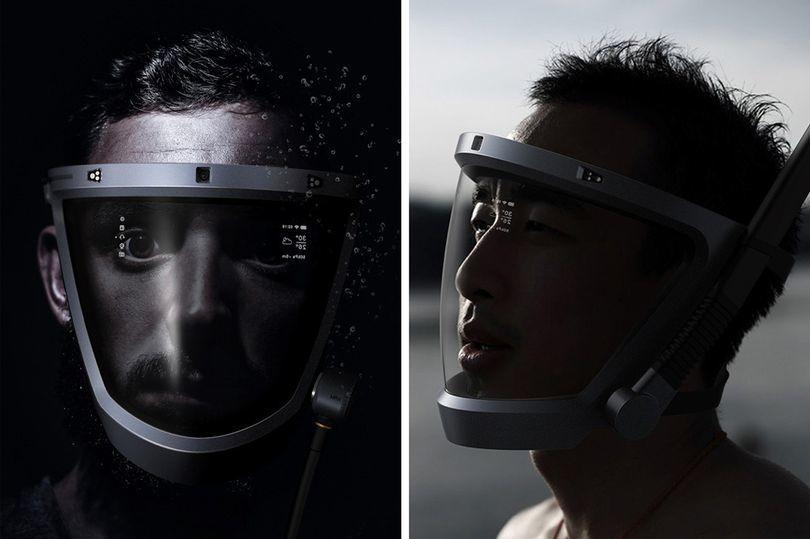 科幻版潜水头盔问世,不仅能水下呼吸还能听音乐
