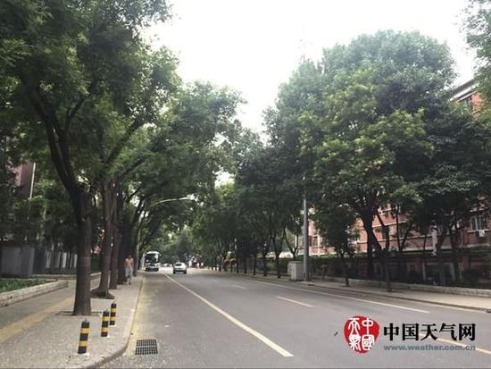 24日早晨,北京天气较为阴沉。(张永宁