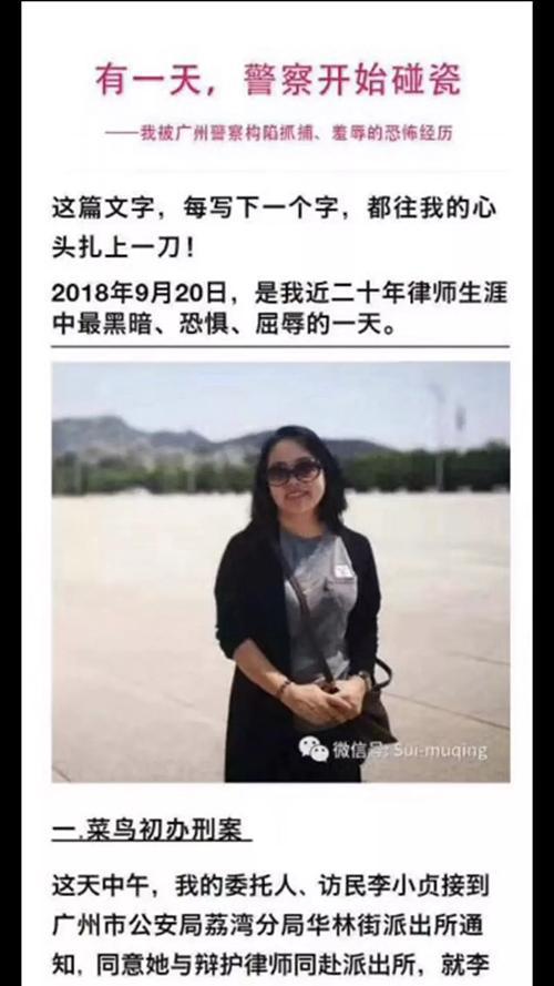 女律师称遭警察脱衣检查 媒体:应公开视频平息争议