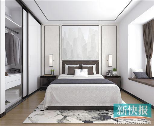 石膏线简单卧室中式
