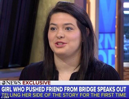女孩将闺蜜推下18米高桥被指控 闺蜜:想让她坐牢