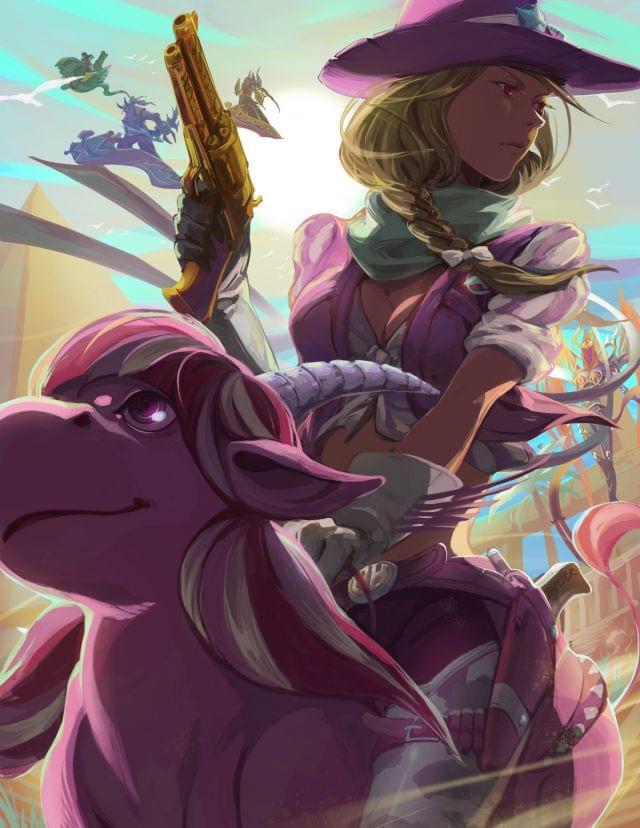 风暴英雄玩家画作:<span>维拉</span>和她的神奇比利