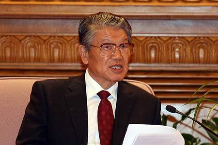 前中国社会科学院院长李铁映资料图