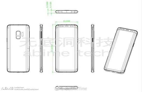 三星S9手机设计图曝光:下巴没那么窄