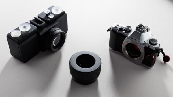 SLO:连镜头和快门都是3D打印的35mm胶卷相机的照片 - 3
