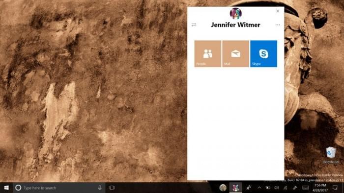 Win10 Build 16184上手体验:磨砂玻璃效果和全新人脉的照片