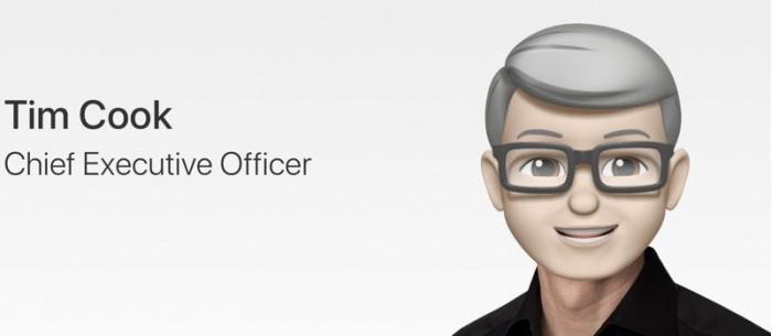表情符号玩出花 苹果官网高管照片统一更换 Memoji