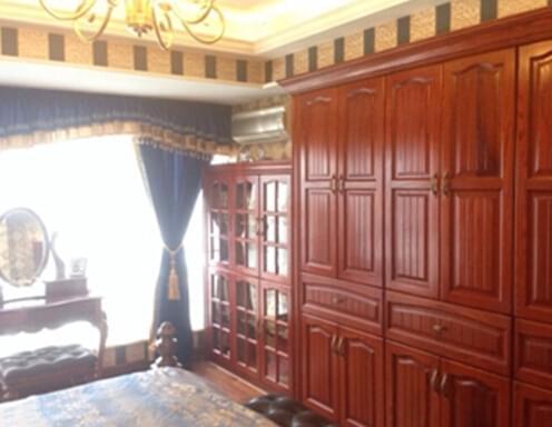 123平美式三居,美式风,三房两厅,全包装修,美式家具,樱桃木家具,青岛实木家具