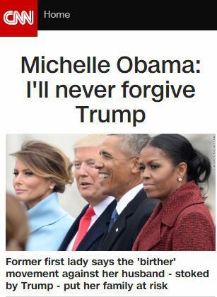 米歇尔·奥巴马回忆录曝光:永远不会原谅特朗普