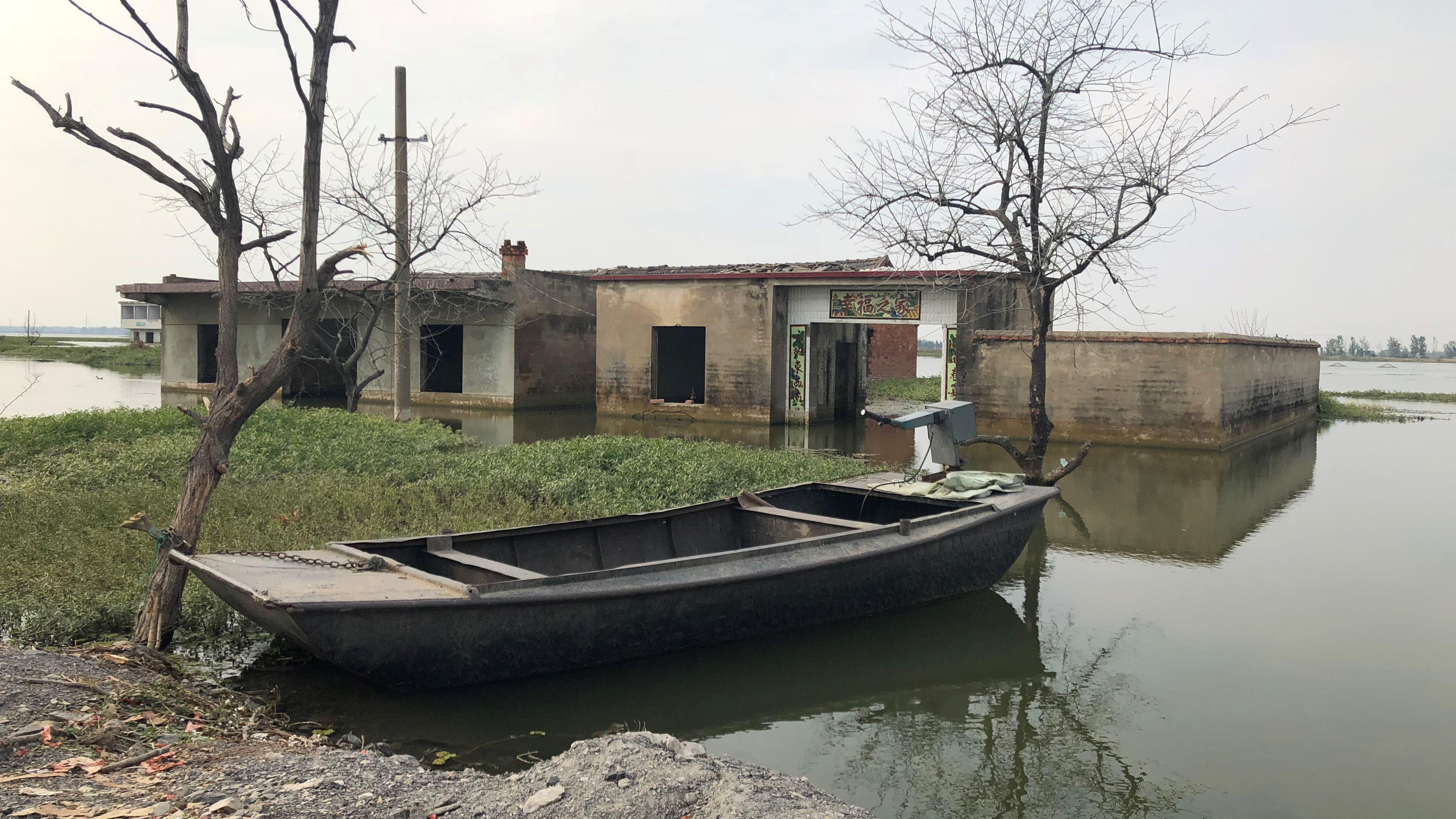 安徽淮南土地沉陷调查:采煤持续至今 多个村庄成湖